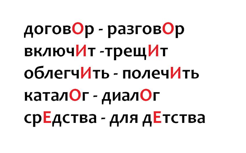 Как запомнить ударение в словарных словах