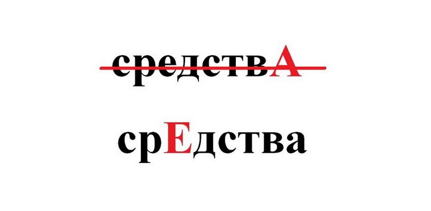 """Правильное ударение в слове """"средства"""""""