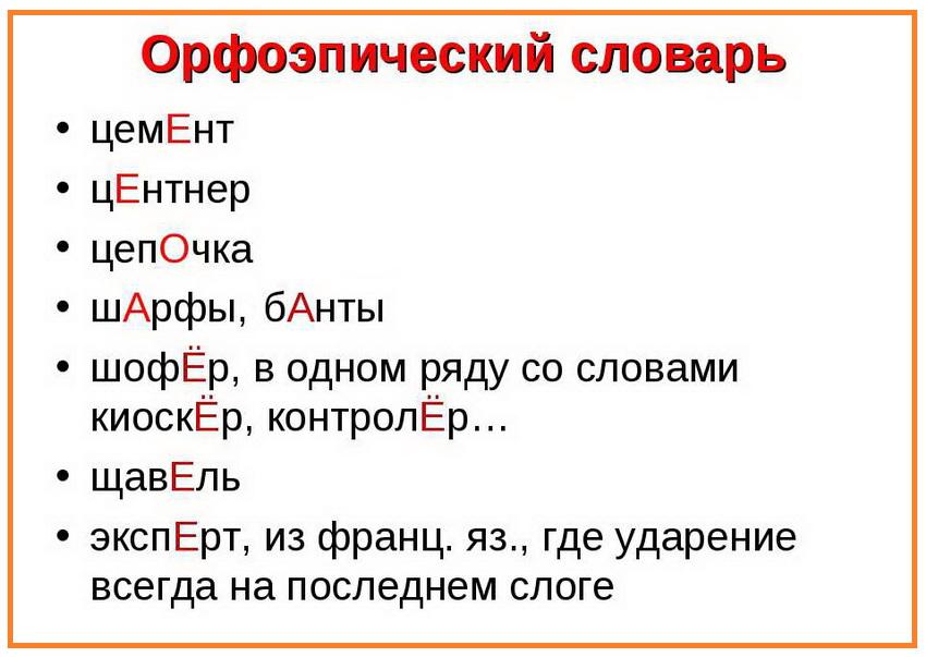 орфоэпический словарь - сложные слова русского языка