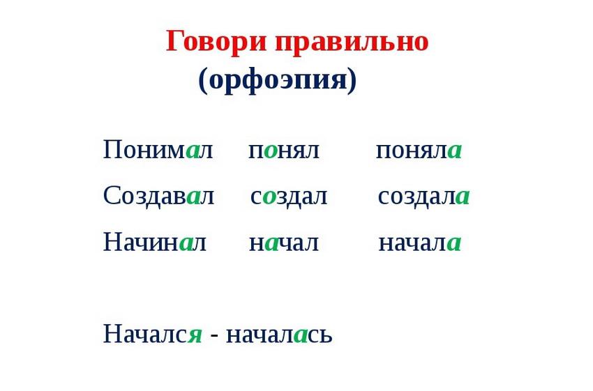 постановка ударения в глаголах русского языка